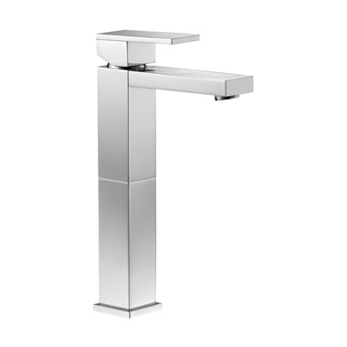 Pura Bloque Tall Basin Mixer with Clicker Waste