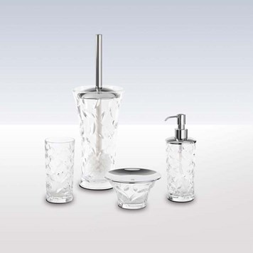 Bathroom Origins Branch Crystal 4 Piece Freestanding Accessory Pack