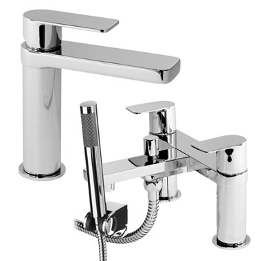 Vellamo Breeze Basin Mixer & Bath Shower Mixer Package