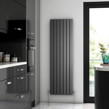 Brenton Flat Double Panel Vertical Radiator - 1600mm x 475mm - Anthracite
