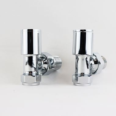 Brenton Chrome Round Angled Radiator Valves