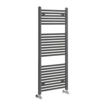 Brenton Nerola Grey Metallic Heated Towel Rail - 1200 x 500mm
