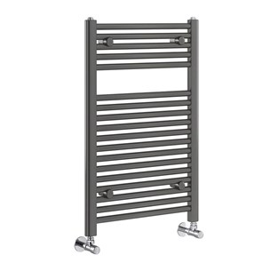 Brenton Nerola Grey Metallic Heated Towel Rail - 770 x 500mm