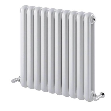Brenton Saturnia White Horizontal Column Radiator - 600 x 622mm