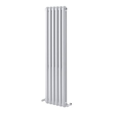 Brenton Saturnia White Vertical Column Radiator - 1500 x 380mm