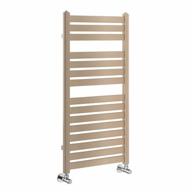 Brenton Suva Brown Metallic Heated Towel Rail - 1000 x 500mm