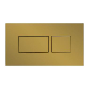 Britton Bathrooms Hoxton Dual Flush Plate - Brushed Brass
