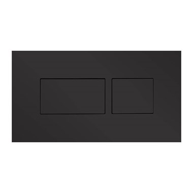 Britton Bathrooms Hoxton Dual Flush Plate - Matt Black