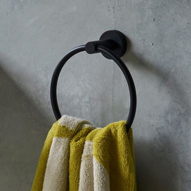 Britton Bathrooms Hoxton Towel Ring - Matt Black