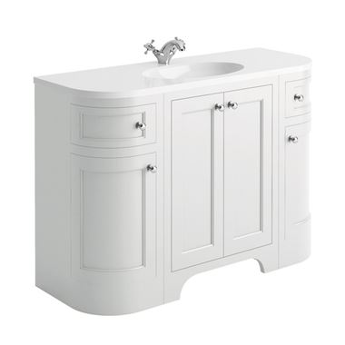 Butler & Rose Benedict 1200mm Floorstanding Vanity Unit & Basin - Arctic White