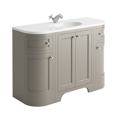 Butler & Rose Benedict 1200mm Floorstanding Vanity Unit & Basin - Dovetail Grey