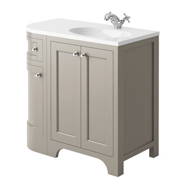 Butler & Rose Benedict 900mm Right Hand Corner Vanity Unit & Basin - Dovetail Grey
