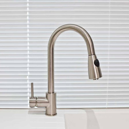 Brushed Stell Kitchen Taps