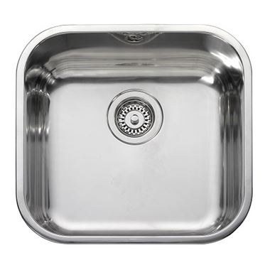 Leisure Square 1 Bowl Stainless Steel Inset Sink & Waste Kit