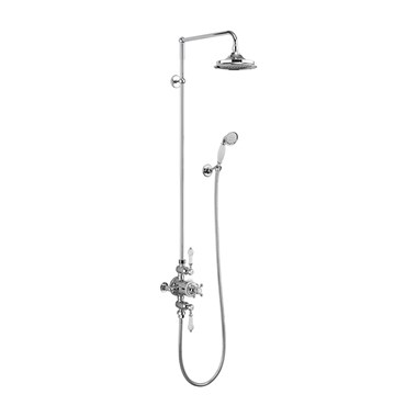 Burlington Avon Exposed Thermostatic Shower Kit with AirBurst Shower Head & Ceramic Handle Handset