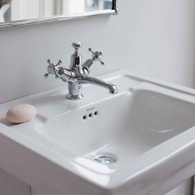 Burlington Claremont Basin Mixer Tap with High Central Indice & Waste