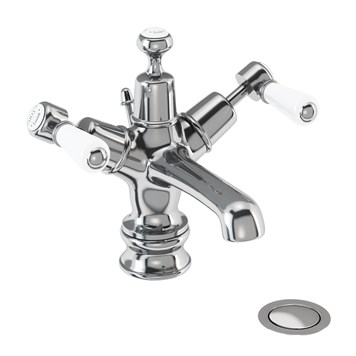 Burlington Kensington Regent Basin Mixer Tap with High Central Indice and Waste