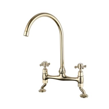 Butler & Rose Barbier Crosshead Kitchen Bridge Mixer - Gold