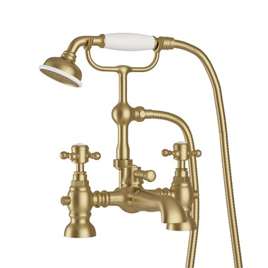 Butler & Rose Beatrice Brushed Brass Bath Shower Mixer & Kit