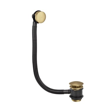 Butler & Rose Beatrice Brushed Brass Pop Up Bath Waste & Overflow
