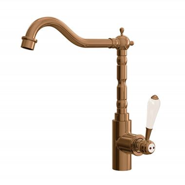 Butler & Rose Carlton Single Lever Traditional Mono Kitchen Mixer Tap - Brushed Copper
