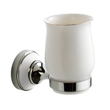 Butler & Rose Catherine Wall Mounted Ceramic Tumbler & Holder