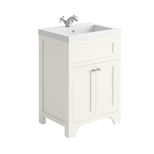 Butler & Rose Charlotte 600mm Floorstanding Vanity Unit & Basin - Almond White