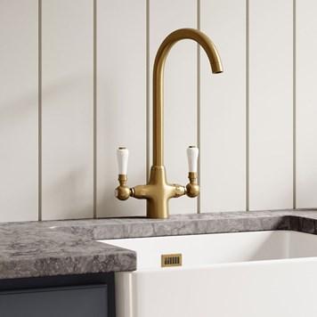 Fine Butler Rose Elizabeth Traditional Mono Kitchen Mixer Antique Brass Interior Design Ideas Clesiryabchikinfo