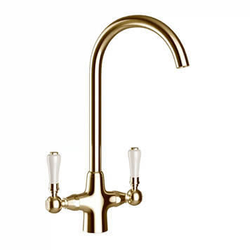 Butler & Rose Elizabeth Traditional Gold Mono Kitchen Mixer and Complete Filter Kit