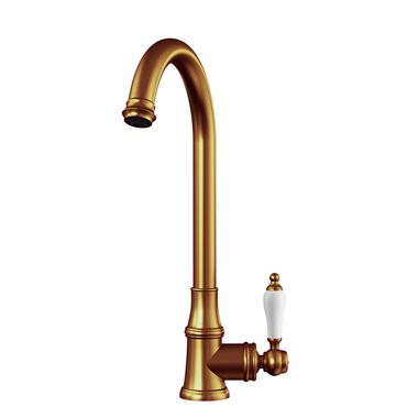 Butler & Rose Elizabeth Single Lever Traditional Mono Kitchen Mixer Tap - Brushed Copper
