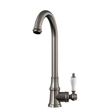 Butler & Rose Elizabeth Single Lever Traditional Mono Kitchen Mixer Tap - Brushed Nickel