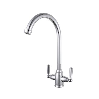 Butler & Rose Ionian Twin Lever Mono Kitchen Mixer - Polished Chrome