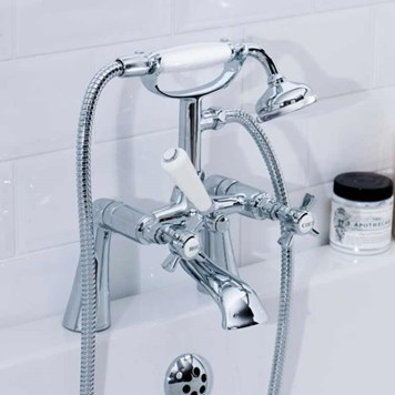 Butler & Rose Loretta Traditional  Bath Shower Mixer with Handset Kit