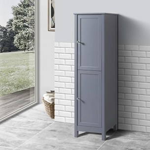 Butler & Rose Catherine Tall Floorstanding Storage Unit - Matt Grey