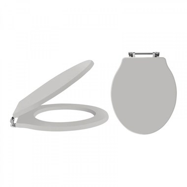 Butler & Rose Benedict Stone Grey Soft Closing Top Fix Toilet Seat