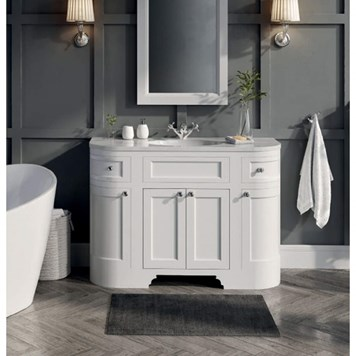 Butler & Rose Charlotte 1200mm Floorstanding Vanity Unit & Basin - Almond White