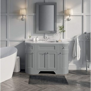 Butler & Rose Charlotte 1200mm Floorstanding Vanity Unit & Basin - Dovetail Grey
