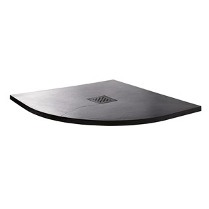 Drench Anthracite Ultra Thin Stone Offset Quadrant Shower Tray - Left Hand 1200 x 800mm