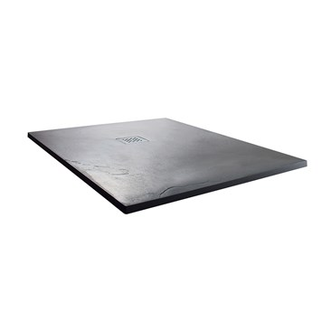 Drench Anthracite Ultra Thin Stone Square Shower Tray - 900 x 900mm