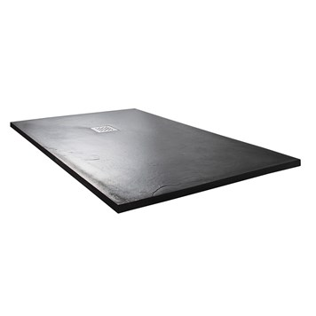Drench Anthracite Ultra Thin Rectangular Stone Shower Tray - 1200 x 900mm