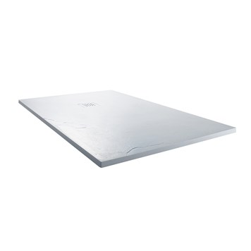 Drench Ultra Thin Rectangular White Stone Shower Tray - 1400 x 900mm