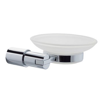 Holloway Frosted Glass Soap Dish & Holder
