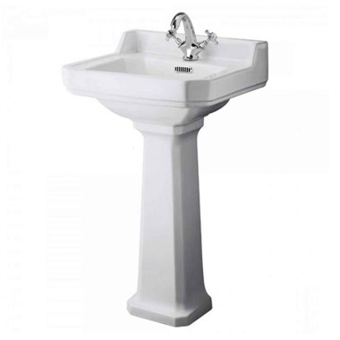 Butler & Rose Catherine 500mm 1 Tap Hole Basin & Pedestal