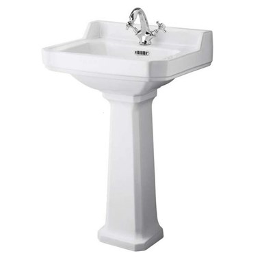 Butler & Rose Catherine 560mm 1 Tap Hole Basin & Pedestal