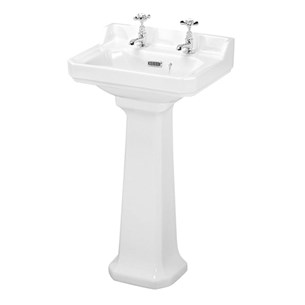 Butler & Rose Catherine 500mm 2 Tap Hole Basin & Pedestal