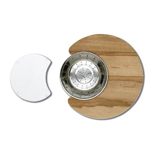 Astracast Cascade Accessory Pack With Glass Chopping Board, Wooden Chopping Board & Colander