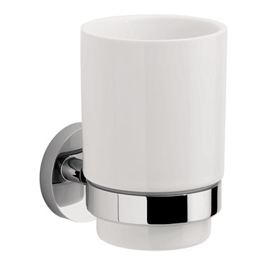 Crosswater Central Ceramic Single Tumbler & Holder
