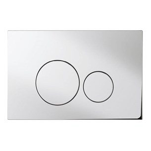 Bauhaus Central Chrome Flush Plate