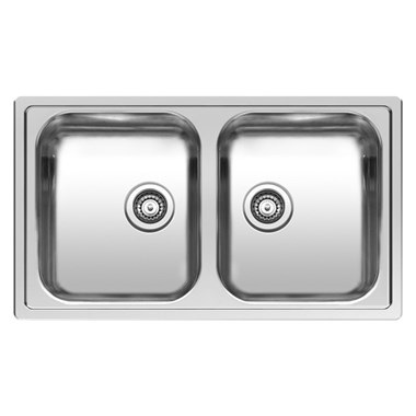 Reginox Centurio Double Bowl Stainless Steel Undermount Kitchen Sink & Waste