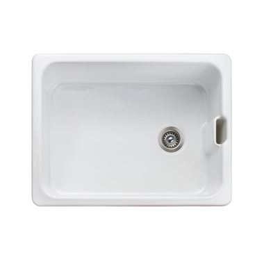 Rangemaster Farmhouse White Ceramic Belfast Sink & Waste Kit - 595 x 455mm